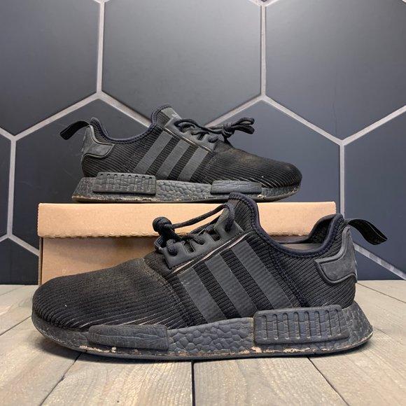 Used Adidas NMD R1 Triple Black Reflective Shoe